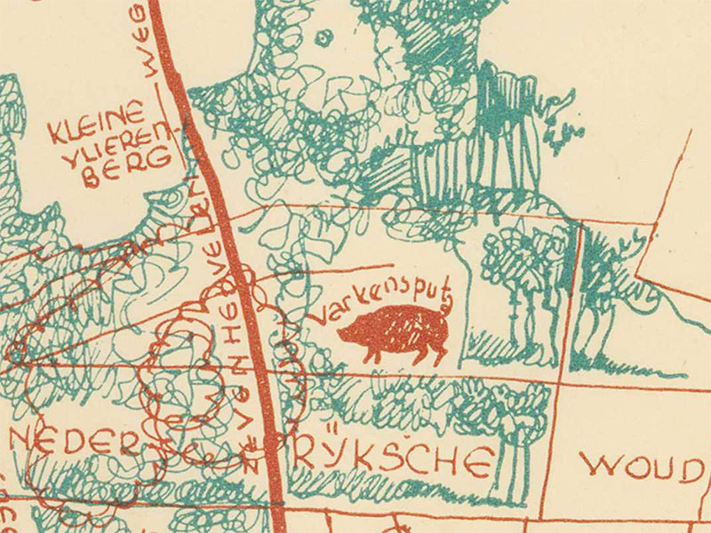 1957-Wandelkaart-Groesbeek